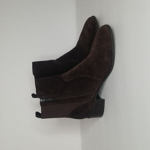 Easy Spirit Chocolate Leather Suede Sesylva Ankle Boots Size: 9.5W
